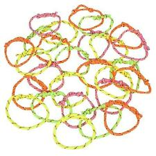144  NEON FRIENDSHIP BRACELETS, KIDS LOVE TO TRADE WITH FRIENDS, PARTY FAVORS