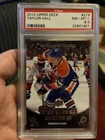 2010 Upper Deck #219 Taylor Hall PSA 8.5 Rookie Card HTF Young Guns Oilers Rare!