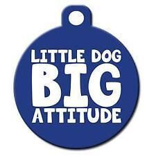 Little Dog Big Attitude - Pet Id Dog or Cat Tag or Collar Charm
