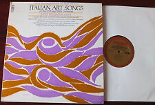 JOHN WUSTMAN ACCOMPANIMENTS ITALIAN ART SONGS HIGH VOICE PIANO LP +SHEET MUSIC