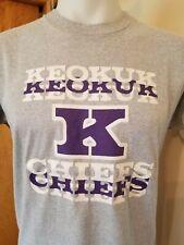 Vtg 80s Screen Stars Keokuk Chiefs Iowa gray Athletic t shirt Xl tag M fit 50/50