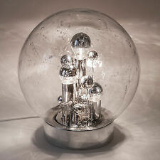 Table Lamp Desk Light Sputnik Chrome Glass DORIA Vintage Mid-Century Modern ❤️