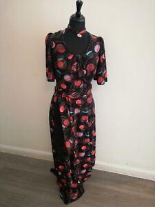 "1970's maxi dress with choker Bust 40"""