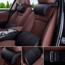 Universal Car SUV PU Leather&Memory Foam Seats Lumbar Pad Headrest Pillow Cover