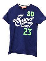 Superdry Blue Short Sleeve T Shirt Mens Size Medium M (D158)