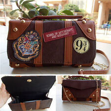 Harry Potter Hogwarts PU School Badge Wallet Messenge Bag Crossbody Clutch Purse