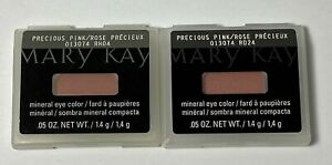 (2) MARY KAY - Precious Pink - Mineral Eye Color -013074 - .05 Oz.- NIB