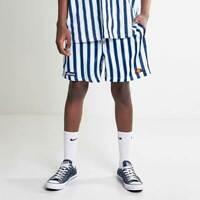 Ellesse Mens Shorts Reef Stripe White Blue Logo Retro Large RRP £35