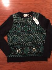 Vineyard Vines NWT Floral Fairisle Sweater With Cashmere Embellished Med $198