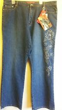 Cosmopolitan jeans size 20 w with design on leg on sale now for short time