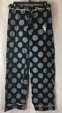 Chicago White Sox Polka dots Pajama Pants Size Medium Black Gray