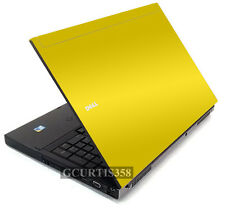 YELLOW Vinyl Lid Skin Cover Decal fits Dell Precision M6400 M6500 Laptop