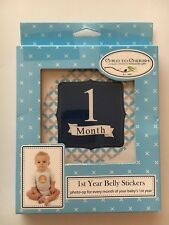 Child To Cherish 1st Year Belly Stickers Boys Newborn Bnib Gift