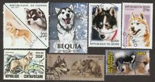 Siberian Husky * Int'l Dog Postage Stamp Art Collection * Unique Gift Idea *