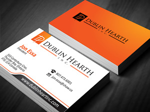 Printed Business Cards Double Sided, or Single Single Sided With Free Delivery