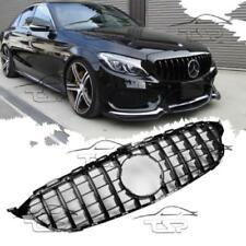 FRONT BLACK GRILL FOR MERCEDES CLASS-C W205 C205 13-17 PANAMERICANA AMG LOOK