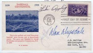 Baseball Luke Appling, Don Drysdale, Jim Palmer Autographed 855 FDC 1939 #39B