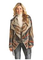 Powder River Women's Aztec Jacquard Fringe Jacket 52-2647