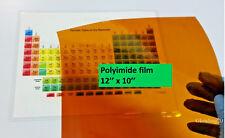 Polyimide Kapton Film 5mil. , size  10'' x 12''  (254mm x 304mm)