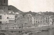 D0055 Bosa - Le vecchie case lungo il Temo - Stampa d'epoca - 1927 old print