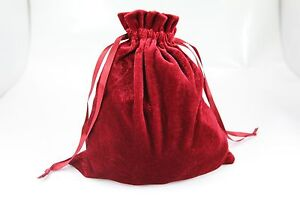 """10pcs Large 8""""x8"""" Velvet Bags, Jewelry Wedding Party Gift, Drawstring Pouches"""