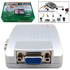 PC Laptop VGA 15 Pin to AV TV RCA S-Video Monitor Converter LCD DVR Box Adapter