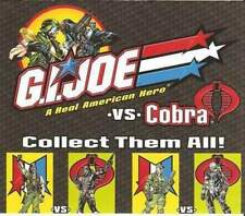 2001 GI Joe figure/vehicle catalog G.I. JOE VS COBRA insert brochure paper JTC
