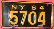 Old Photo. 1964 New York Motorcycle License Plate '5704'