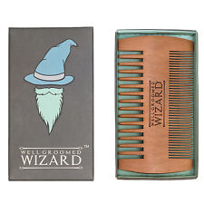 Beard Comb, Wooden Double Sided Beard and Moustache Comb By Well Groomed Wizard