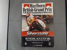 1984 SILVERSTONE PROGRAMME 4/8/84 - MARLBORO BRITISH MOTORCYCLE GRAND PRIX