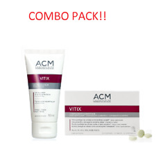 ACM VITIX GEL 50 ml plus VITIX 30 tabs VITILIGO SKIN Vitiliginous COMBO PACK