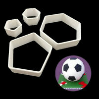 4Pcs Sugarcraft Football Fondant Mold Cookie Cutter Cake Decor Tools Bakeware GV