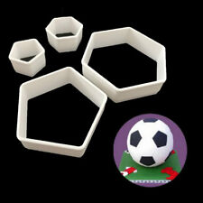 4Pcs Sugarcraft Football Fondant Mold Cookie Cutter Cake Decor Tools Bakeware: