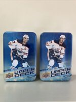 Lot Of 2 EMPTY Upper Deck Series One 2020-21 Hockey Card Tin's Connor McDavid
