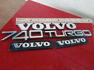 1984-1985-1986-1987-1988-1989-1990 Volvo 740 Turbo Emblem badge Nameplate 4PC