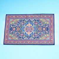 15X25CM Purple Red Dollhouse Miniature 1:12 Scale Floor Carpet Woven Rug
