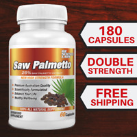 Saw Palmetto - 180 Capsules Prostate Health Mens Health Tablets 3 Months Worth