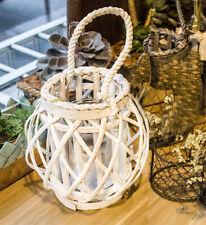 "Nautical Wicker Candle Holder Tealight Lantern Beach Wedding Decor Rustic 6"""