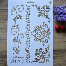 DIY Craft Layering Flower Brick Stencils for Walls Painting Scrapbooking Stamp