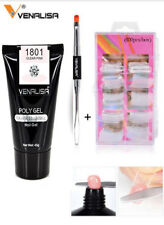 Venalisa Quick Building Nail Extend Poly Gel/Double Brush/Nail tips set of 3pcs