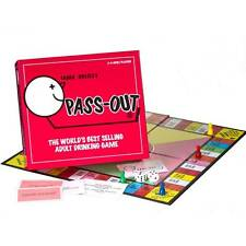 PASSOUT / PASS OUT BOARD GAME DRINKING ADULT GAME IDEAL FOR 2 T0 4 PLAYERS