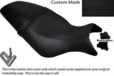 BLACK STITCH CUSTOM FITS BUELL CYCLONE M2 99-02 LEATHER DUAL SEAT COVER