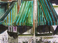ORIGINAL Landscape WATERCOLOR Painting JMW art John Williams Expressionism