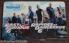 Walmart Canada Fast & Furious 6 collectible gift card French/English