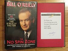 Political Commentator BILL O'REILLY signed THE NO SPIN ZONE 2001 1st Ed Book BP