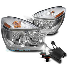 FOR 02-07 BUICK RENDEZVOUS CRYSTAL STYLE CHROME HEADLIGHTS HEADLAMP W/50W 8K HID