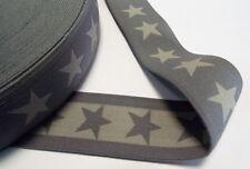 Gummiband 1,99Euro/m Breite 40mm 4cm mittel grau straffe Qualität Stern Sternen