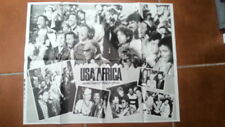 M JACKSON C LAUPER USA for Africa LARGE magazine POSTER / Pin Up 22x16 inches