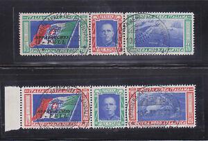 ITALY 1933 VERY RARE triptychs Balbo USED ! 6500 $!
