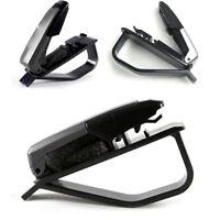 Black Sun Visor Sunglasses Eye Glasses Card Pen Holder Clip Car Vehicle Part